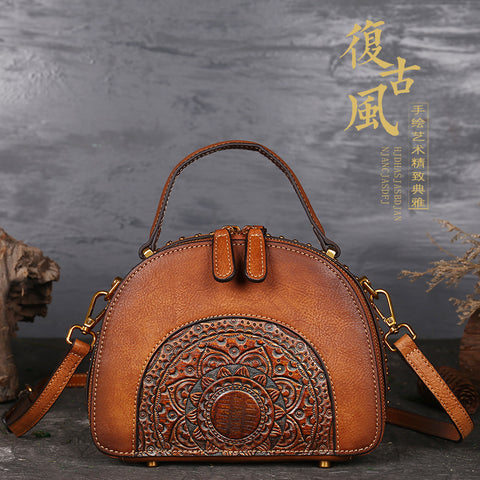 Women Genuine Leather Handbags Shoulder Bag Handmade Bags