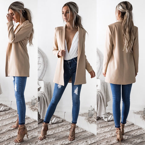 1 Pcs Women's Blazer & Suits Spring Autumn Blazers Jackets Suit European Style S