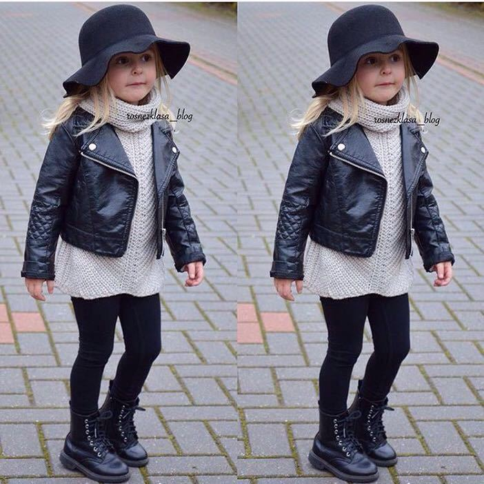 04c9a6fa4306 1 Pcs Fashion Spring and Autumn and the Wind PU Leather Coat Baby ...