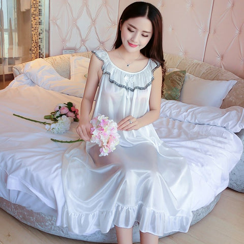 Women Sleepwear Nightwear Long Dress Nightgown Nightdress