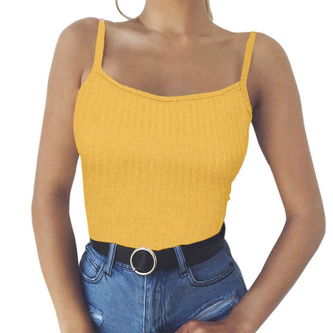 Women Tank Top Vest Off Shoulder Sexy Halter