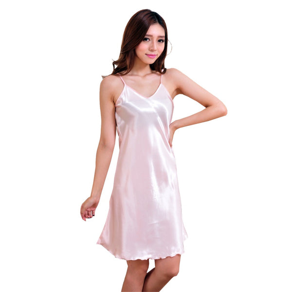 New Arrival Sexy Lingerie Women Girl Silk Robe Dress Babydoll Nightdress Nightgo - JKK Mart