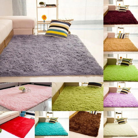 1 Pcs Plush Soft Shaggy Alfombras Carpet Faux Fur Area Rug Non-slip Floor Mats F