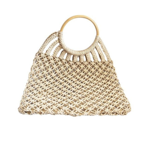 Straw Braided Bag Women's Handbag Handmade Totes Rattan Woven