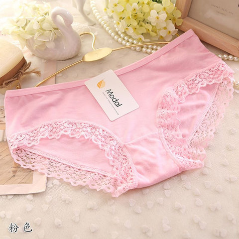Women Panties Lace Plus Size Sexy See Through Underwear Briefs