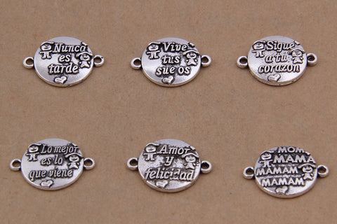 15*21mm 20PCS Alphabet letters Connector Charms jewelry making