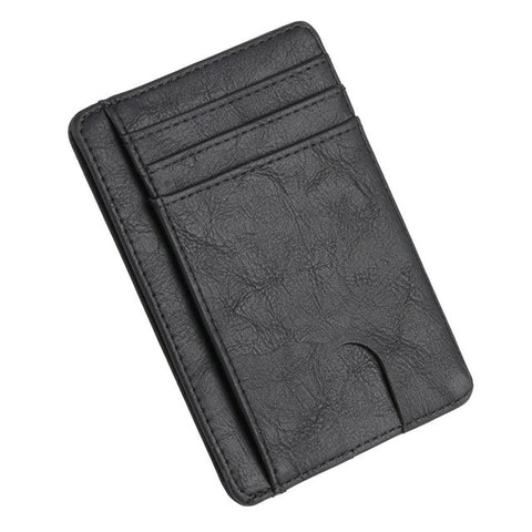 1 Pc  Men Women Slim RFID Blocking Leather Wallet Credit ID Card Holder Purse Money Case Fashion Bags