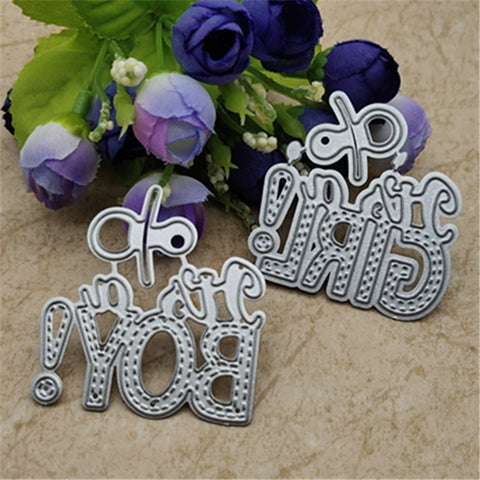 1 Pc Baby Boy and GIRL Metal cutting dies frame craft cutting embossing stencil