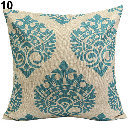 JKKMart Vintage Geometric Flower Cotton Linen Throw Pillow Case Cushion Cover Home Decor Art 10, Pillow - JKK Mart, JKK Mart - 3