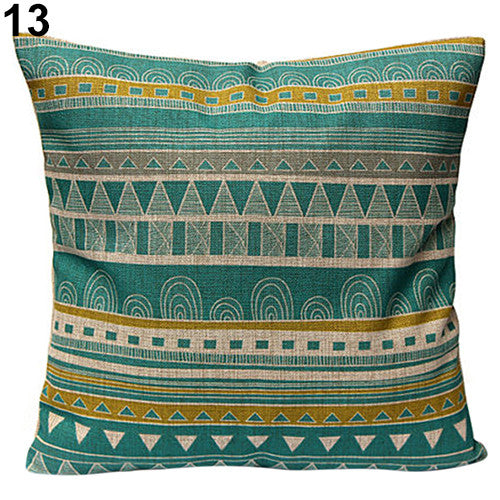 JKKMart Vintage Geometric Flower Cotton Linen Throw Pillow Case Cushion Cover Home Decor Art 13, Pillow - JKK Mart, JKK Mart - 8
