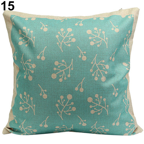 JKKMart Vintage Geometric Flower Cotton Linen Throw Pillow Case Cushion Cover Home Decor Art 15, Pillow - JKK Mart, JKK Mart - 10