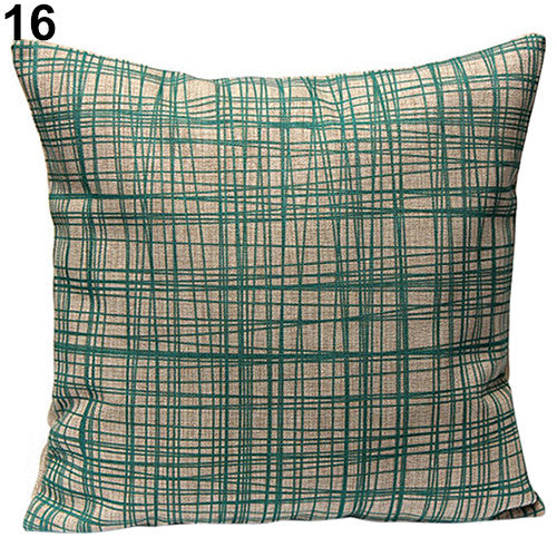 JKKMart Vintage Geometric Flower Cotton Linen Throw Pillow Case Cushion Cover Home Decor Art 16, Pillow - JKK Mart, JKK Mart - 14