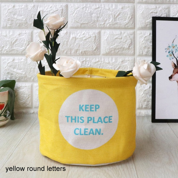 1 Pc Laundry Basket Toy Cartoon Storage Barrel Dirty Clothes Sundries Pouch Household Organizers Storage folding bag