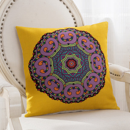 JKKMart Mandala Classic Vintage Mediterranean Cushion Cover Pillow Case Cotton Linen Pillows Decorative Throw Pillowcase Home Type 2 / 45x45cm,  - JKK Mart, JKK Mart - 12