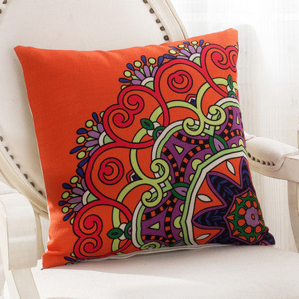 JKKMart Mandala Classic Vintage Mediterranean Cushion Cover Pillow Case Cotton Linen Pillows Decorative Throw Pillowcase Home Type 12 / 45x45cm,  - JKK Mart, JKK Mart - 13