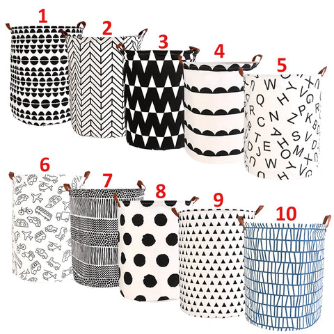1pc Folding Laundry Basket Round Storage Bin Large Hamper Collapsible Clothes Toy Laundry Holder Organizer