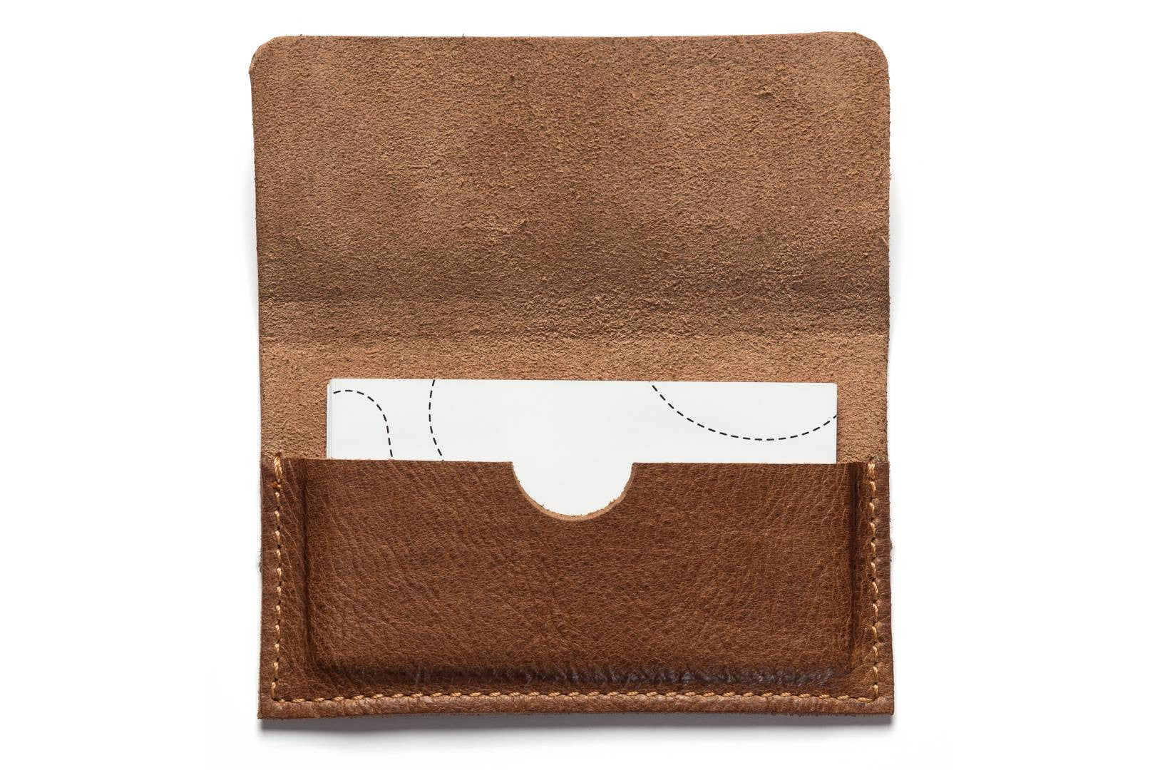 Brown Leather Business Card Holder - Smiles Bags
