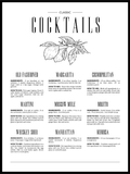 Klassisk Cocktails Guide - Poster - Plakatbar.no