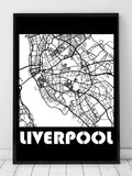 Liverpool byplakat - sort - Plakatbar.no
