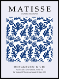 Matisse Cut Out Blue&White - Plakat - Plakatbar.no