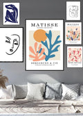 Matisse Cut Outs Coral Poster - Plakatbar.no