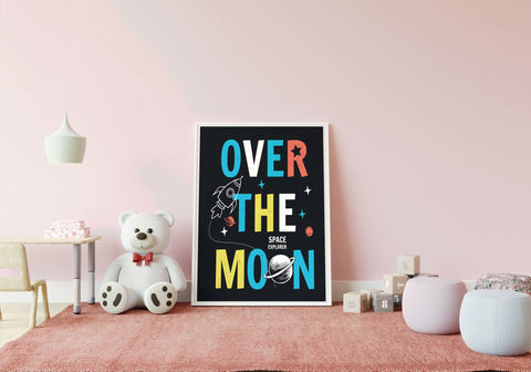 Over The Moon - Romplakat - Plakatbar.no