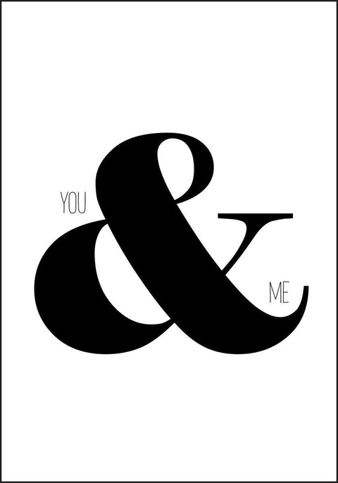 You And Me - Plakat - Plakatbar.no