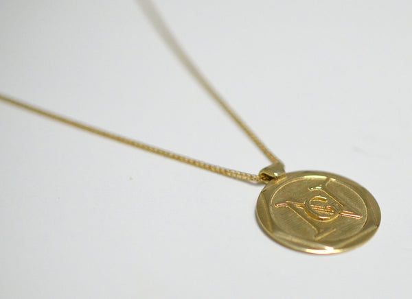 Gold pendant with personal engraving, in various length