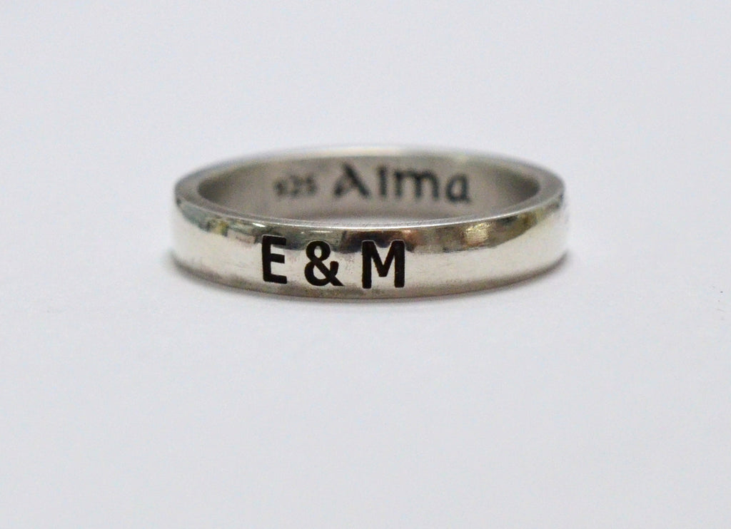 Simple Name Ring - AlmaJewelryShop Online boutique for gold and silver jewelry