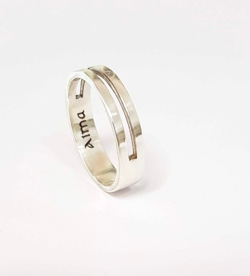 Simple Ring, Personalized Ring, Designer Ring - AlmaJewelryShop Online boutique for gold and silver jewelry