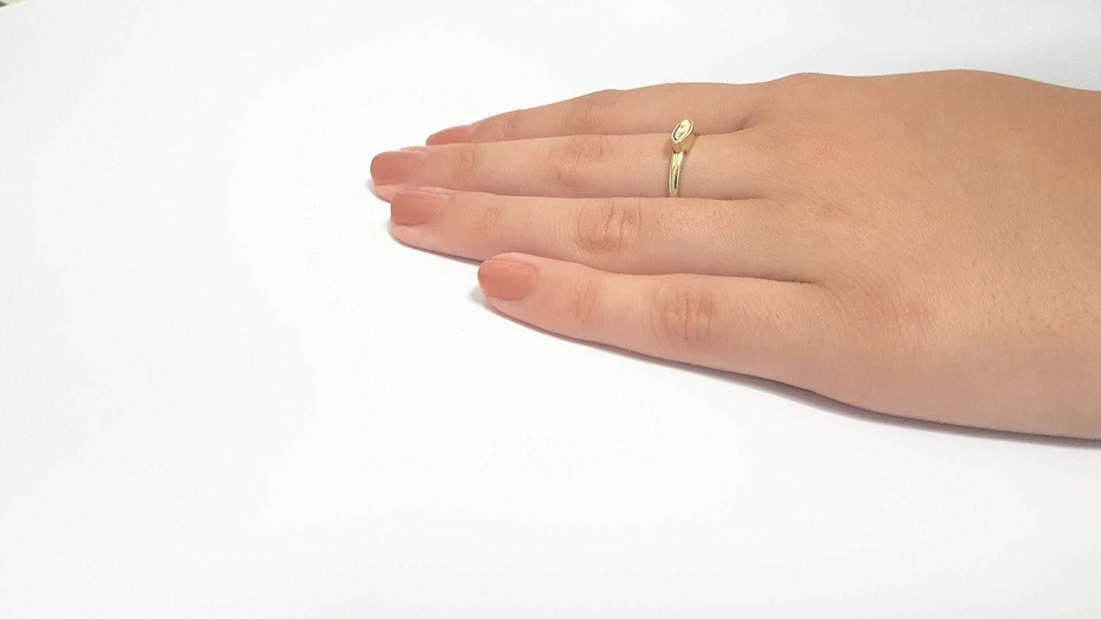 14K gold Ring, Stackable Ring, Personalized Ring, Simple ring, Delicate ring - AlmaJewelryShop