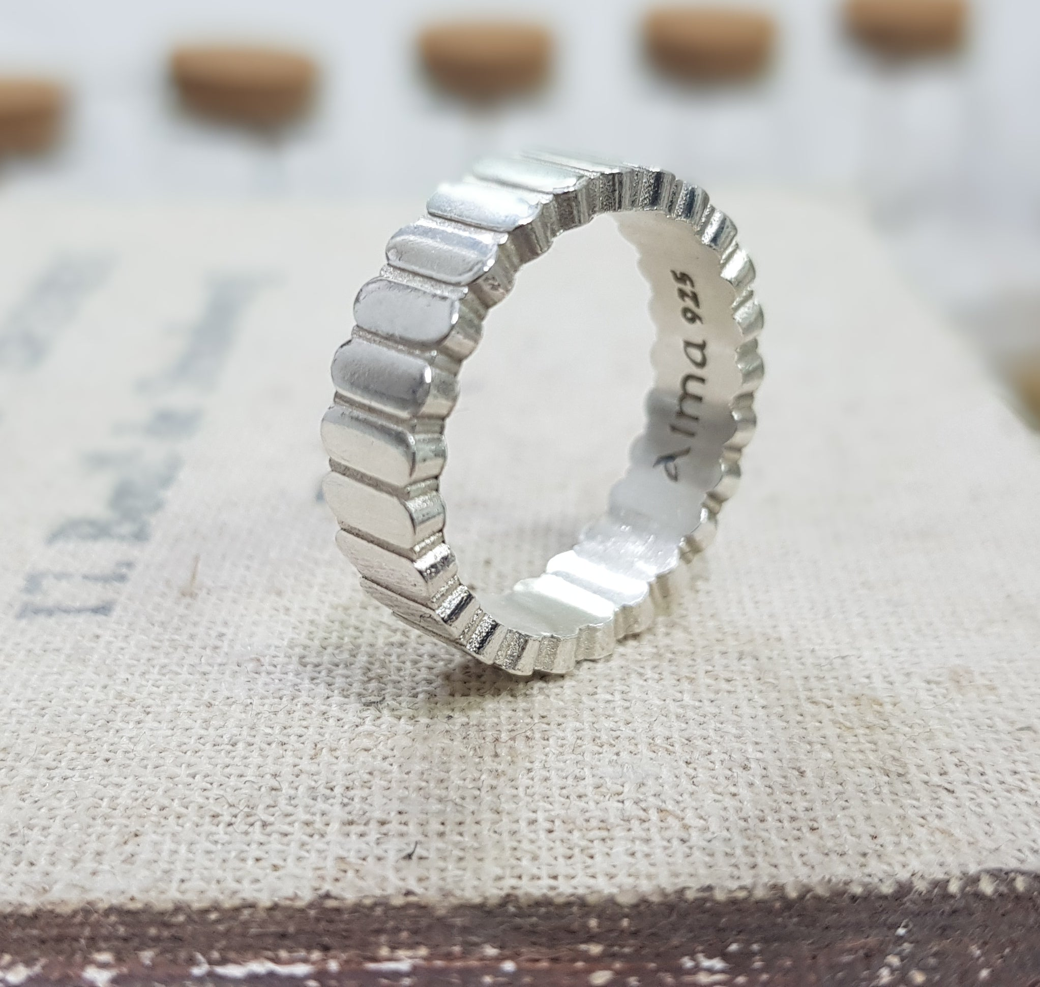 Unique Men Ring, Bold Men Ring, silver ring, Personalized Ring, designer ring - AlmaJewelryShop Online boutique for gold and silver jewelry