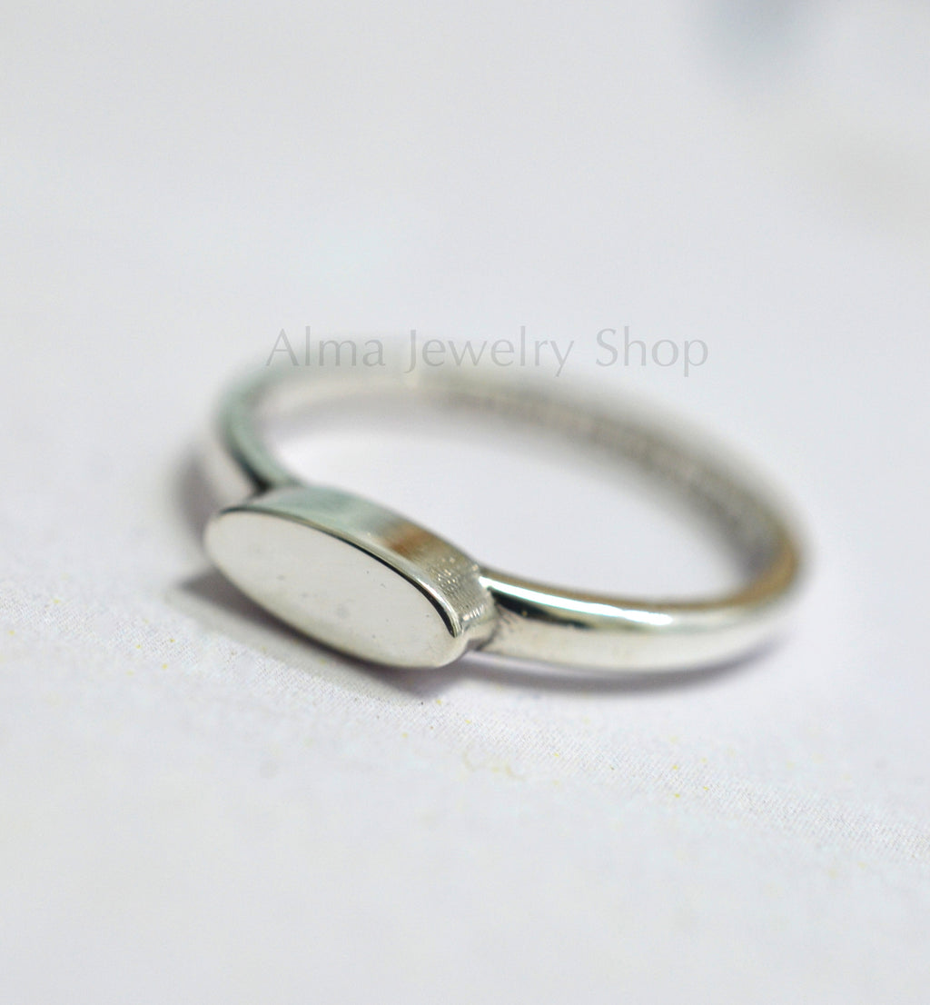 Delicate Silver Ring, Personalized Ring, Simple ring - AlmaJewelryShop Online boutique for gold and silver jewelry