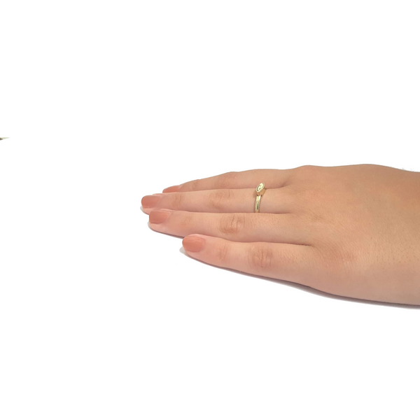 14k gold dainty ring