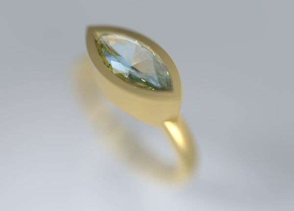 Aquamarine marquise gold ring. Marquise gold Ring, Personalized Ring, Delicate ring, 14K gold Ring,
