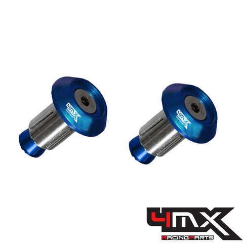 4MX Handlebar Bar End Caps Blue