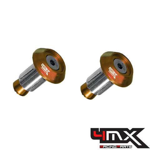 4MX Handlebar Bar End Caps Orange