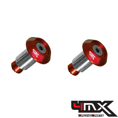 4MX Handlebar Bar End Caps Red