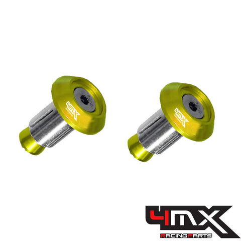 4MX Handlebar Bar End Caps Gold