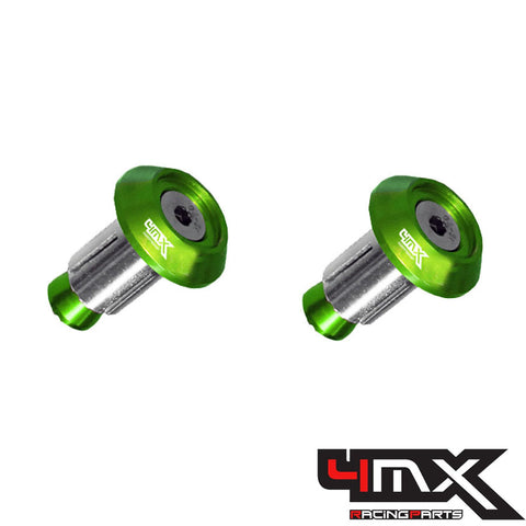4MX Handlebar Bar End Caps Green