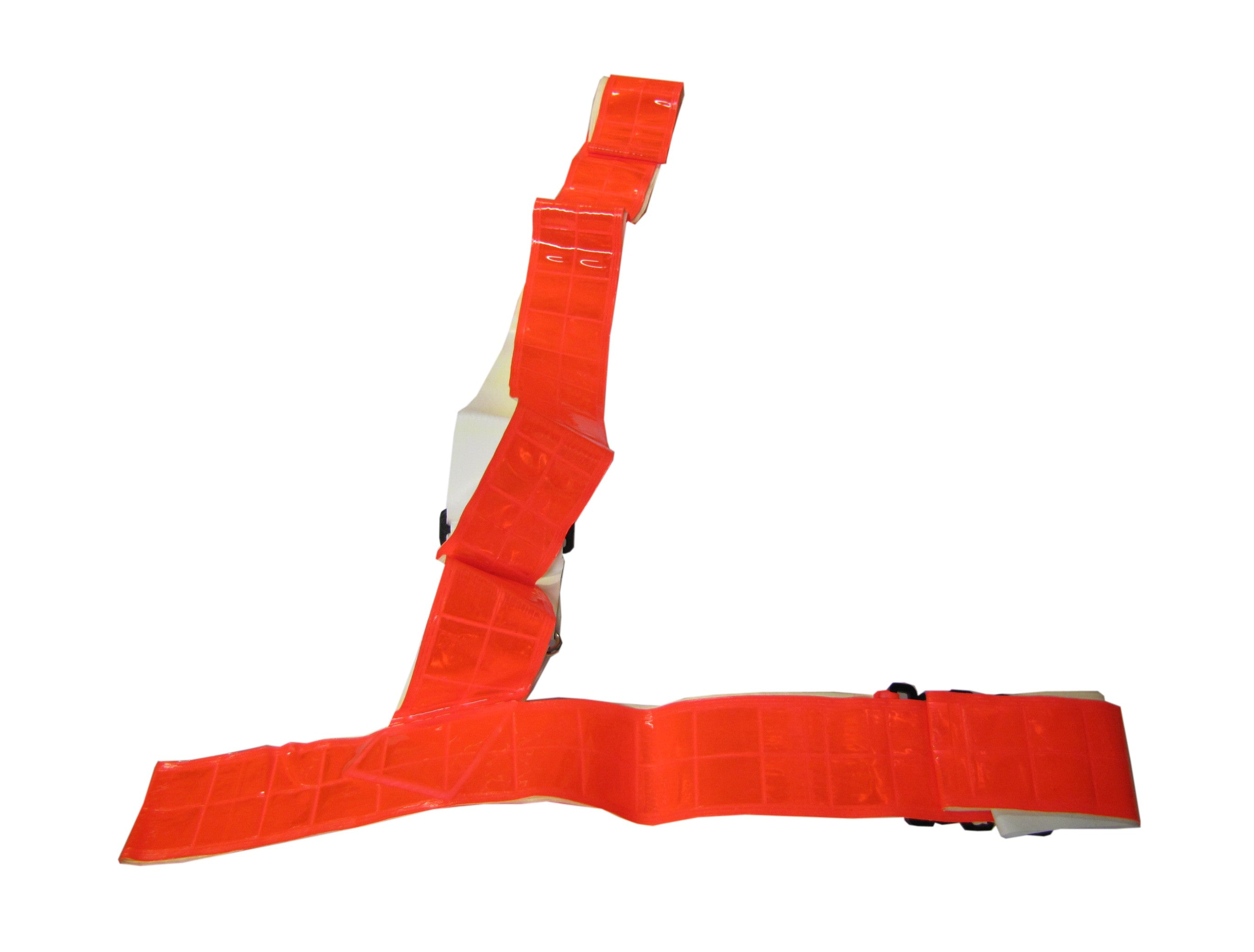 Sam Browne Red Fluorescent Hi Vis Belt - One Size (Adult)