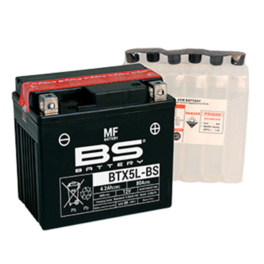 BTX5L-BS BS-Battery Maintenance Free with Acid Pack