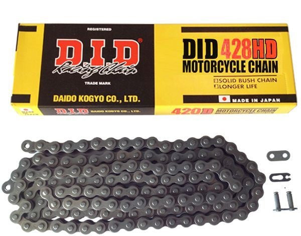 DID Heavy Duty Black 428HD Chain