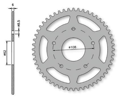 IGM-1375-8302 Rear Sprocket - 52 Tooth