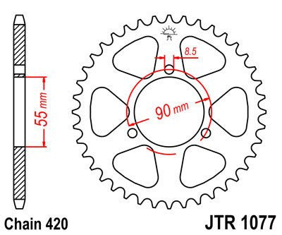 JTR-1077 Rear Drive Sprocket