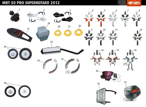 MRT 50 Pro SM White 2012-14 Accessories