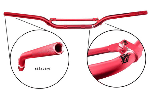Red Lightweight Aluminium Racing Alloy Handlebars