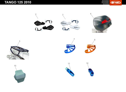 Tango 125 AC White 2010 Accessories