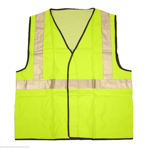 High Visibility Fluorescent Yellow Safety Vest - One Size (Adult)