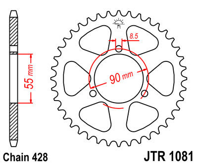 JTR1086 Rear Drive Sprocket